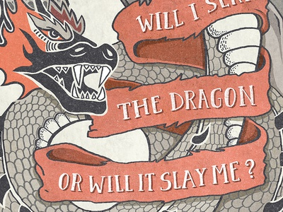The Dragon lettering typography dragon
