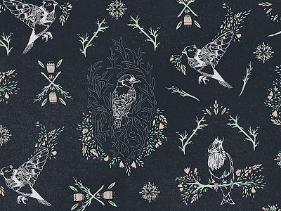 Bird Pattern bird illustration pattern