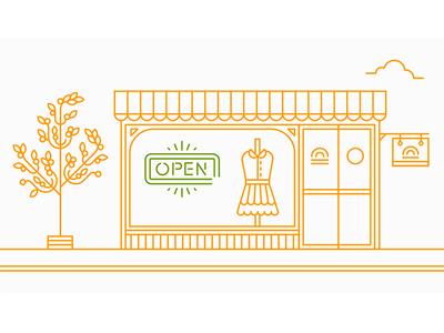 We're Open! zopim shop signage open