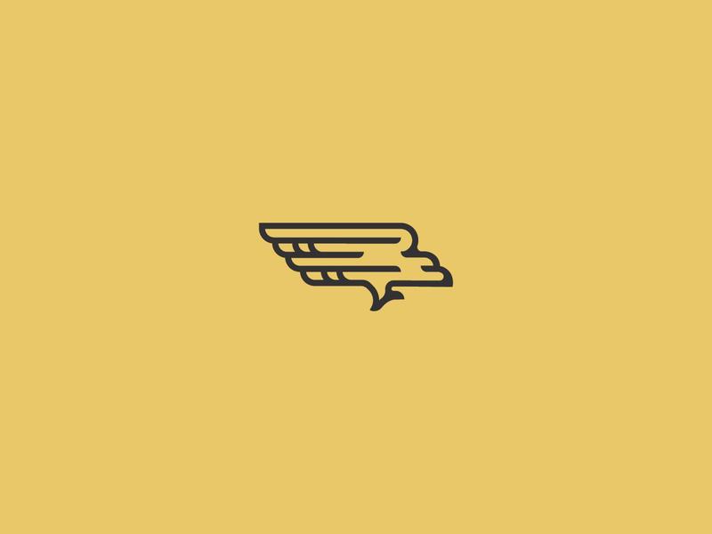 Rogers Roundhouse Bird train bird flying flight bird logo
