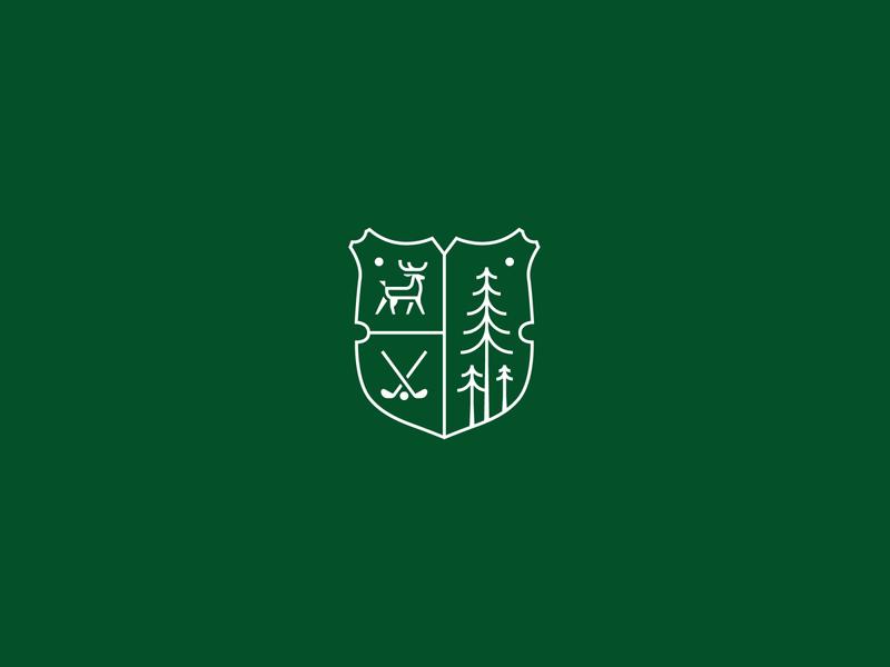 Timber Ridge Golf Club Crest Logo family crest golf logo deer logo crest logo