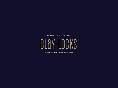 Blay Locks logo branding beauty logo beauty and lifestyle hair and makeup custom type blay-locks hair stylist beauty salon beauty