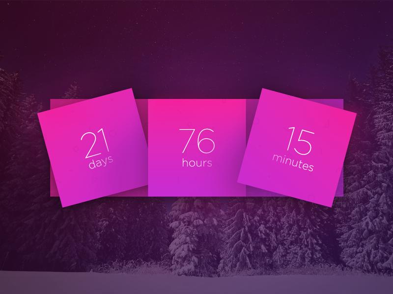 Day 017 - Countdown timer dailyui countdown timer