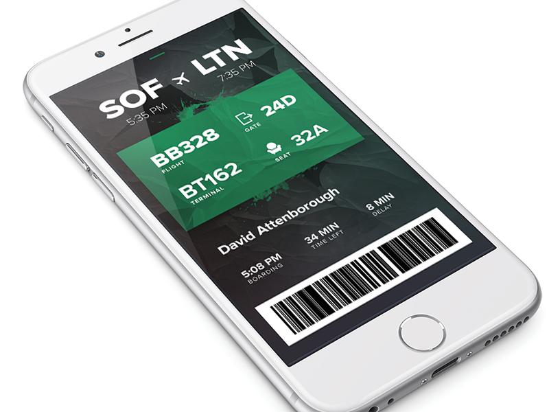 Day 024 - Boarding Pass dailyui boarding pass ui boarding pass mobile ui app