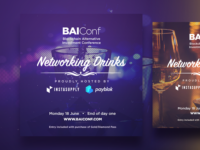 BAIConf Quick Ads party networking purple blockchain conference conference blockchain advertising