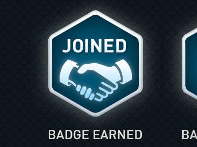 Badges badge join blue app
