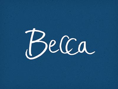Becca becca type hand vector