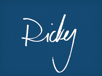 Ricky ricky vector type hand drawn name