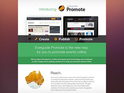 Everguide Promote Welcome eFlyer everguide promote eflyer design ricky synnot melbourne app event product
