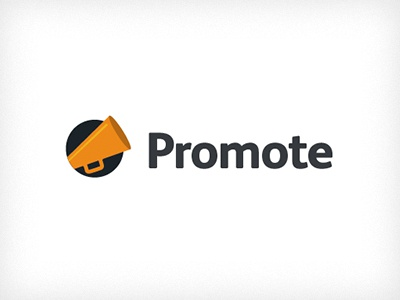 Everguide Promote Logo logo everguide promote trumpet orange blue ricky synnot design melbourne event listing