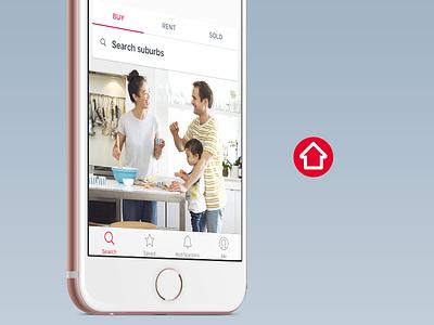 realestate.com.au major iOS update bottom tab tab bar app design estate real realestate.com.au