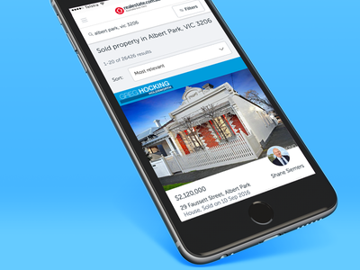 Mobile first, responsive web app for property spa portal australia buy sold real estate property