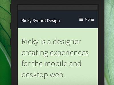 itsricky.com portfolio on mobile responsive mobile design web itsricky ricky synnot
