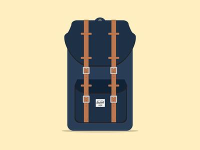 Herschel backpack (freebie) herschel backpack illustration freebie