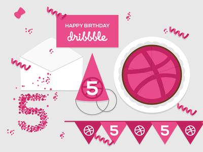 Dribbble is 5!