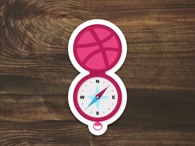 Discover compass discover dribbble