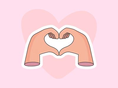 Give Love heart love hand