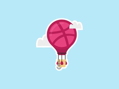 Dribbble Journey balloon air hot explore dribbble