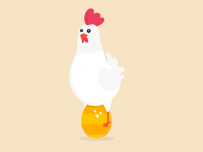 Happy Easter egg chicken easter happy