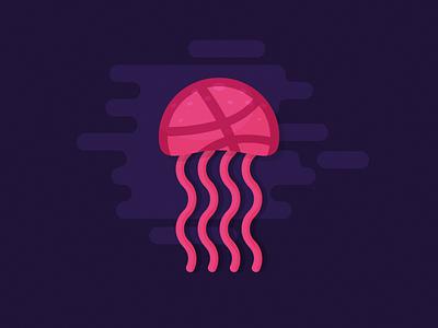 Jellyfish invite dribbble jellyfish