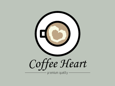 Coffee Heart logo concept coffee heart