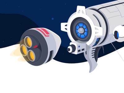 Integration docking spaceship space vector illustrator illustration integration ts trainingspace