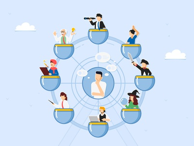 Typology of personality for business development personality vector illustrator illustration business digital ts trainingspace