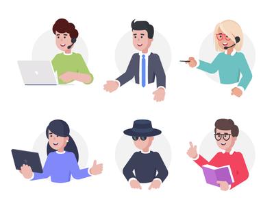 User roles training learning online vector illustrator illustration business digital ts тс тренингспэйс trainingspace