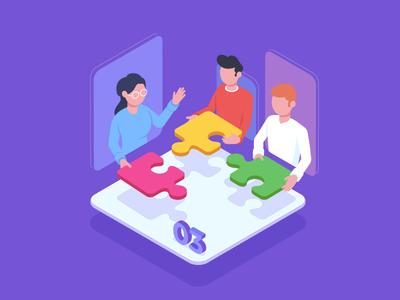 Group dynamics management in digital training training learning online vector illustrator illustration business digital ts тс тренингспэйс trainingspace