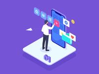 Pedagogical design in digital learning training learning online vector illustrator illustration business digital ts тс тренингспэйс trainingspace