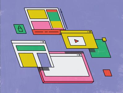 Search icon branding logo flat ui vector design illustration line
