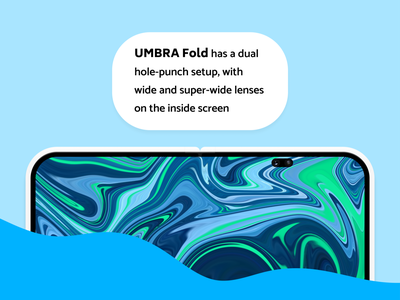 Umbra Fold inner screen concept phone mobile phone industrial design device product design hardware