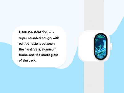 Umbra Watch smart watch concept watch industrial design device product design hardware