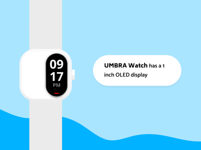 Umbra Watch watchface industrial design ui uiux ux product design hardware