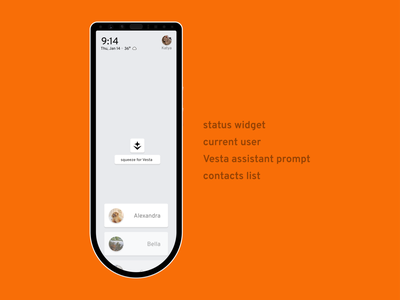 Aether for Home Phone: homescreen