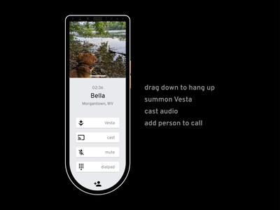 Aether for Home Phone: in call UI