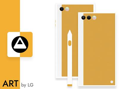 ART by LG design hardware mobile ui phone ux uiux product design