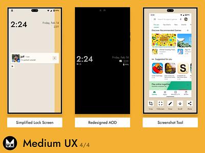 Medium UX pt.4 mobile phone uiux product design