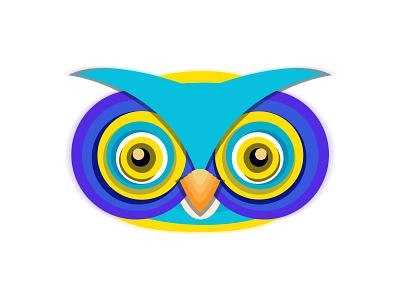 OWLY EYES adobe illustrator india graphic design icon character logo graphic art vector illustration owl