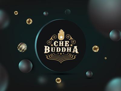 CHEBUDDHA Branding graphic art emblem typography buddha che graphic design branding icon logo illustration