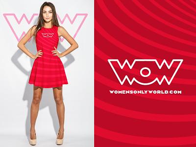 Branding for WOW www.womensonlyworld.com design logo design website logo women graphic design branding logo adobe illustrator vector illustration