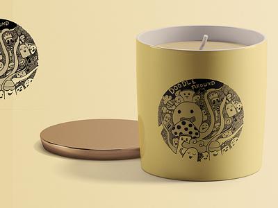 Candle Packaging - Hand Drawn Doodle design adobe illustrator graphic art doodle handdrawn candle graphic design illustration packaging