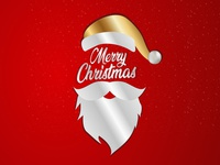Merry Christmas greeting vector illustartion