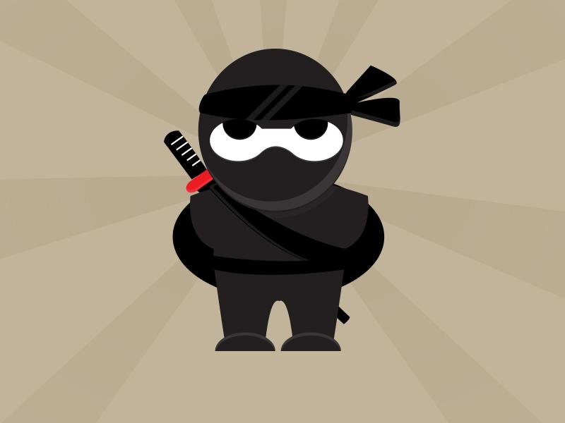 Ninja character illustration mascot samurai ninja adobe illustrator graphic art character vector illustration
