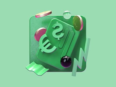 Improv 3D Illustrations // BizDev app ui after effects branding illustration c4d concept 3d logo design