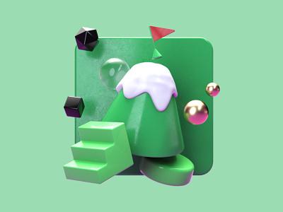 Improv 3D Illustrations // Marketing ux after effects branding ui illustration c4d concept 3d logo design