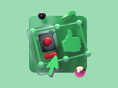 Improv 3D Illustrations // Design icon after effects branding ui illustration c4d concept 3d logo design
