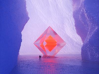 Worship — 3D Render alien confusing ice people orange purple c4d octane worship cinema4d cinema 3d