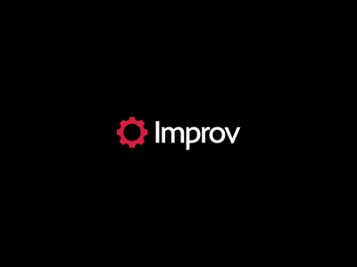 Improv Logo Bumper aep ae aftereffects motion graphics motion icon black vector loop after effects illustration typography branding logo design