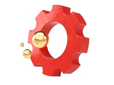 Improv Bubbles improve improv gear gold texture textures c4d illustration ux ui branding concept 3d logo design